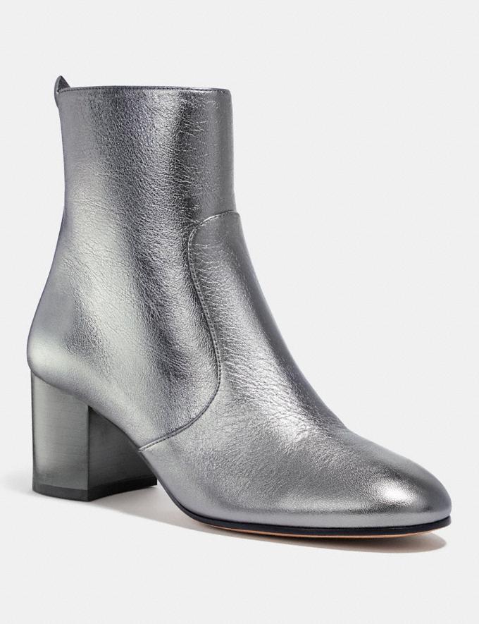 Coach Juliet Ankle Bootie Gunmetal Women Shoes Booties