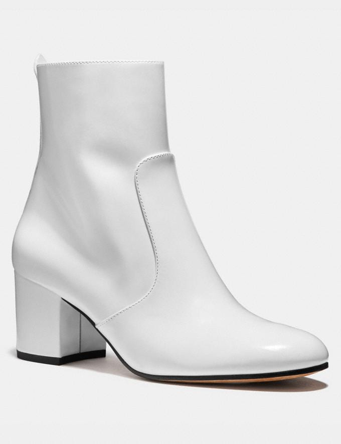 Coach Juliet Ankle Bootie White SALE Women's Sale Shoes