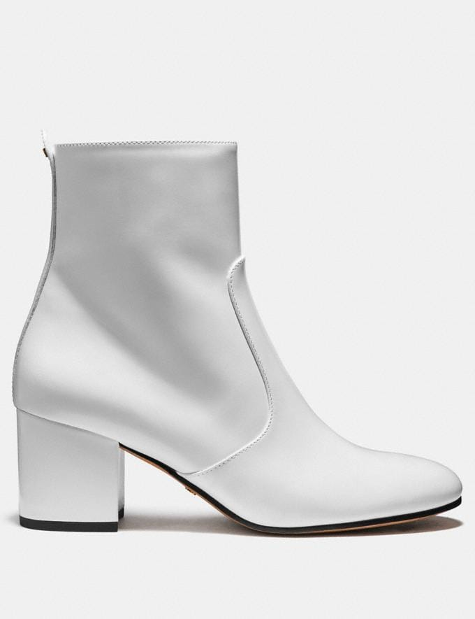 Coach Juliet Ankle Bootie White SALE Women's Sale Shoes Alternate View 1