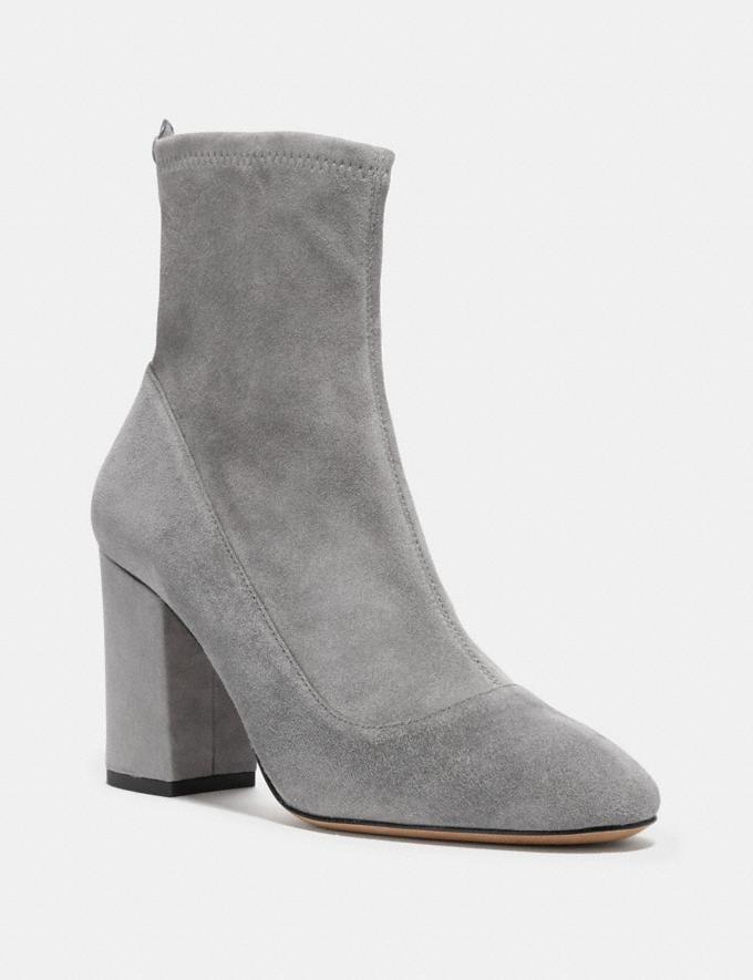 Coach Giana Stretch Bootie Heather Grey/Heather Grey SALE Women's Sale Shoes