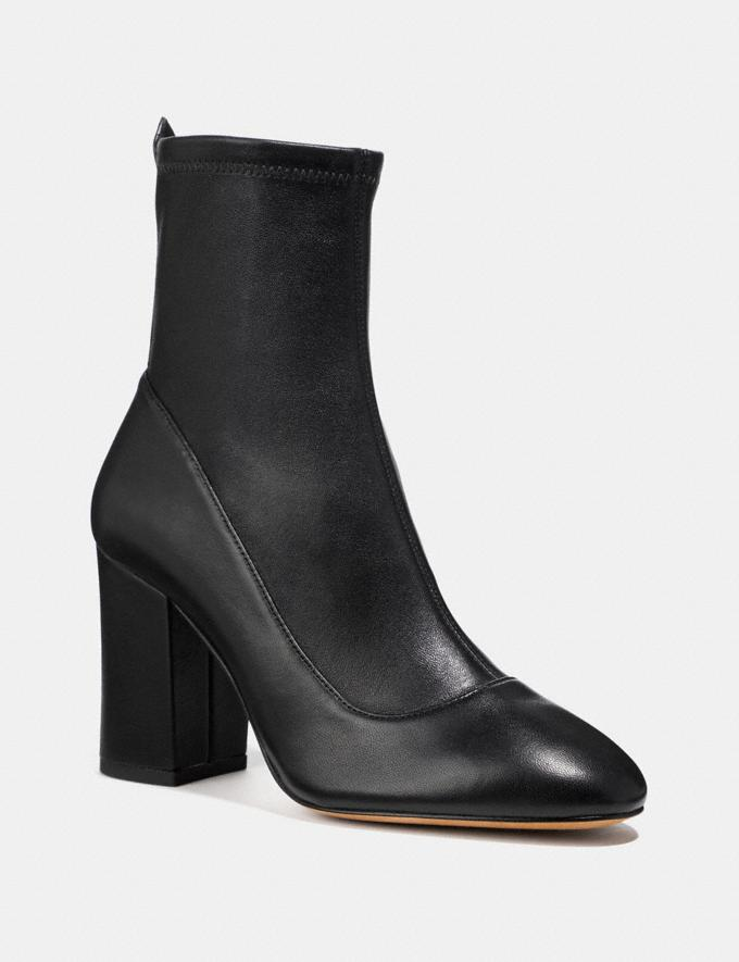 Coach Giana Stretch Bootie Black Women Shoes Booties
