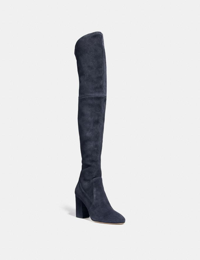 958892bcb8a Coach Giselle Over the Knee Boot Midnight Navy Women Shoes Boots