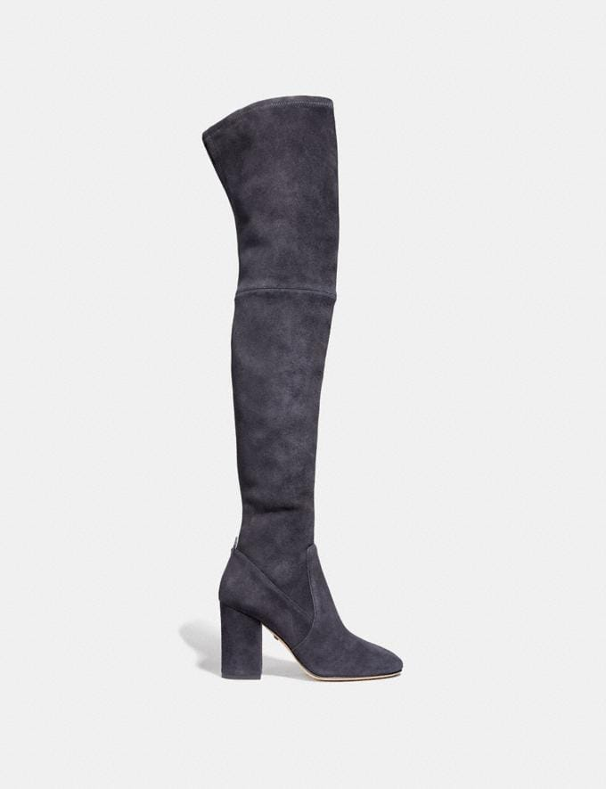 Coach Giselle Over the Knee Boot Midnight Navy  Alternate View 1