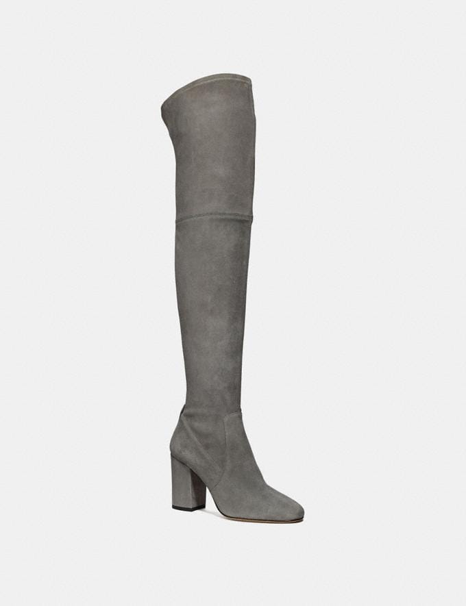 Coach Giselle Over the Knee Boot Midnight Navy