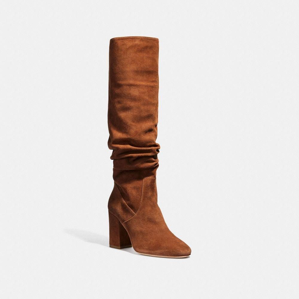 Graham Slouchy Heel Boot in Brown