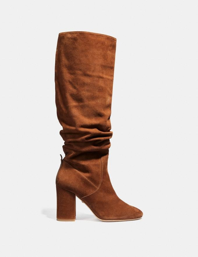 Coach Graham Slouchy Boot Cognac SALE Women's Sale Shoes Alternate View 1