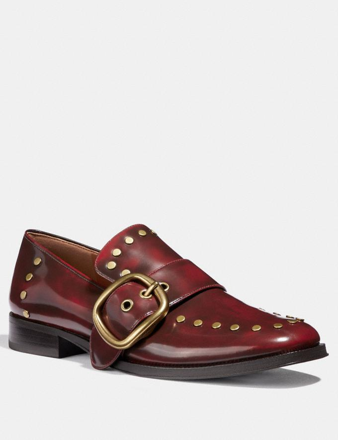Coach Alexa Loafer With Studs Scarlet SALE Women's Sale Shoes