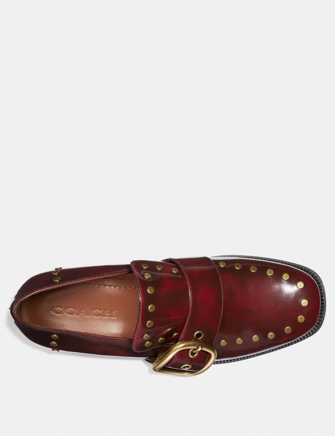 Coach Alexa Loafer With Studs Scarlet SALE Women's Sale Shoes Alternate View 2