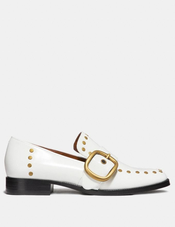 Coach Alexa Loafer With Studs White Staff Sale Alternate View 1