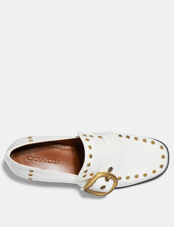 Coach Alexa Loafer With Studs White Staff Sale Alternate View 2