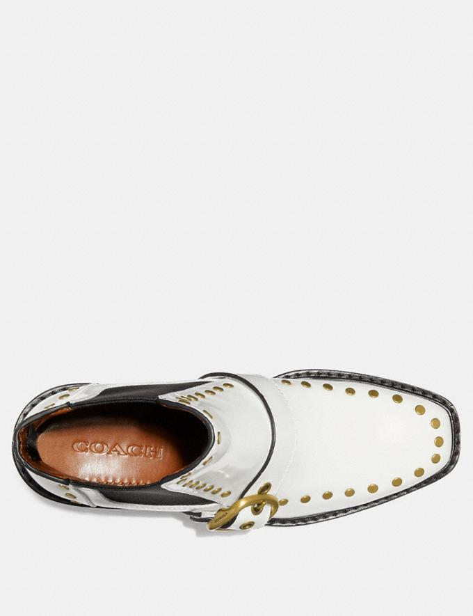 Coach Nora Chelsea Bootie With Studs White SALE Women's Sale Shoes Alternate View 2