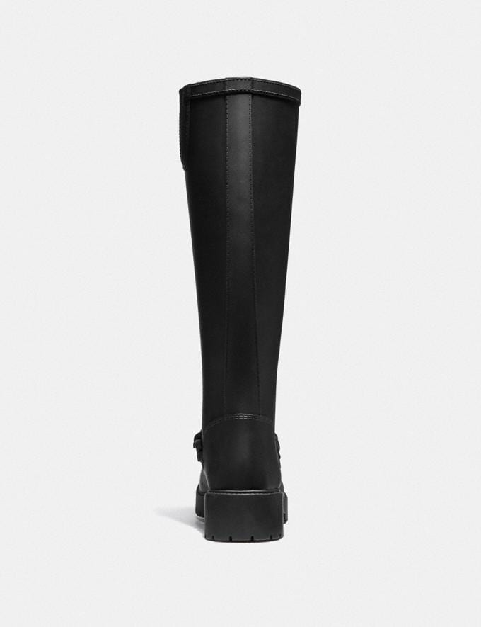Coach Westerly Tall Rain Boot Black SALE Women's Sale Alternate View 2