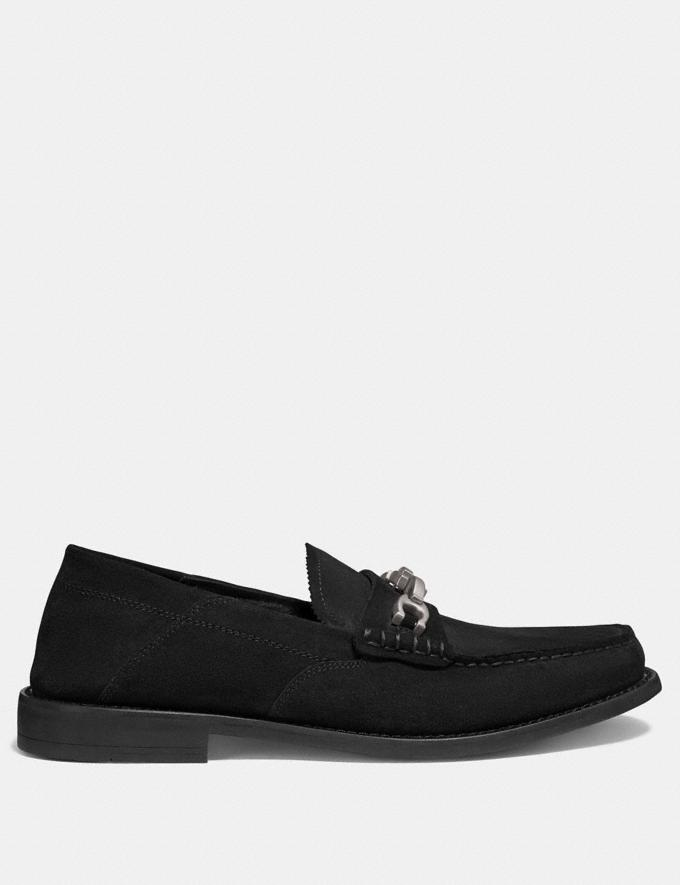 Coach Chain Loafer Black SALE Men's Sale Alternate View 1