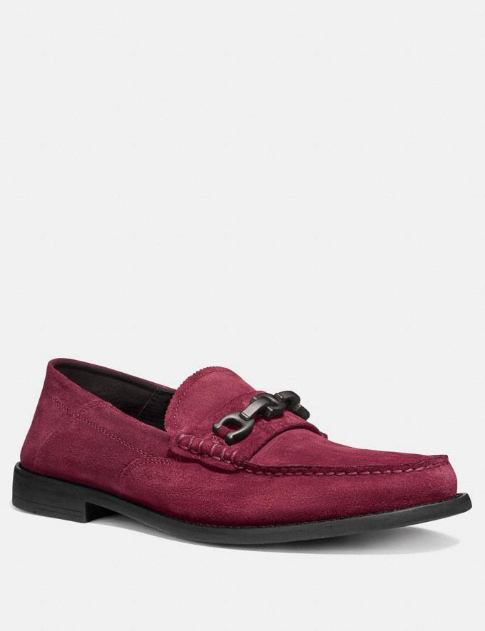 Coach Chain Loafer Cabernet Men Edits Work