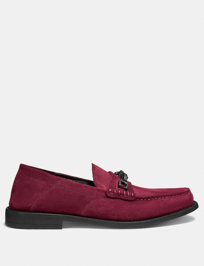 Coach Chain Loafer Cabernet Men Edits Work Alternate View 1