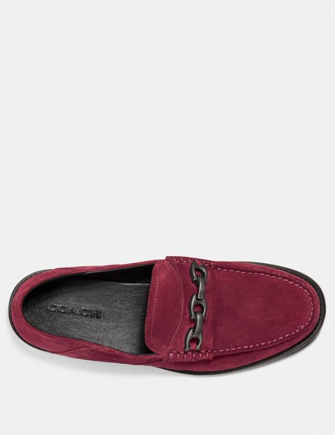 Coach Chain Loafer Cabernet Men Edits Work Alternate View 2