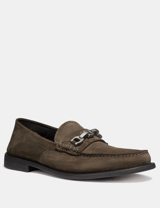 Coach Chain Loafer Olive SALE Men's Sale Shoes