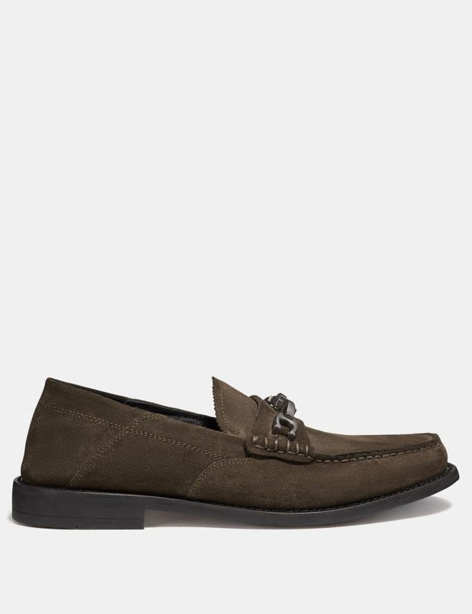 Coach Chain Loafer Olive SALE Men's Sale Shoes Alternate View 1