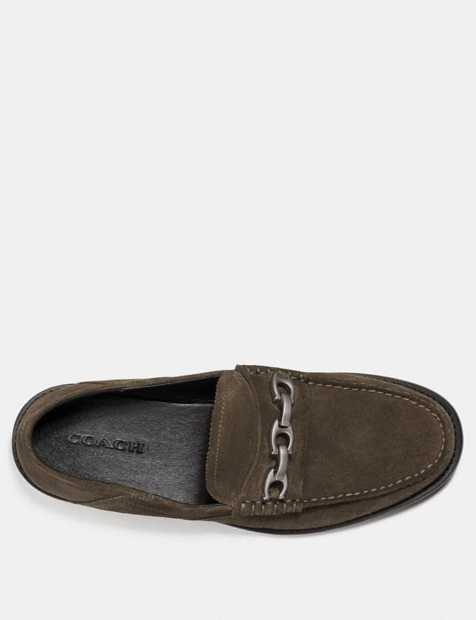 Coach Chain Loafer Olive SALE Men's Sale Shoes Alternate View 2