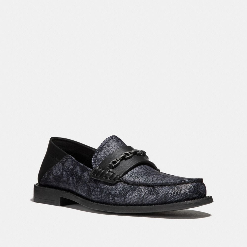Coach Chain Loafer in Signature Canvas