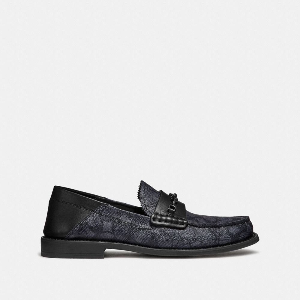 Coach Chain Loafer in Signature Canvas Alternate View 1