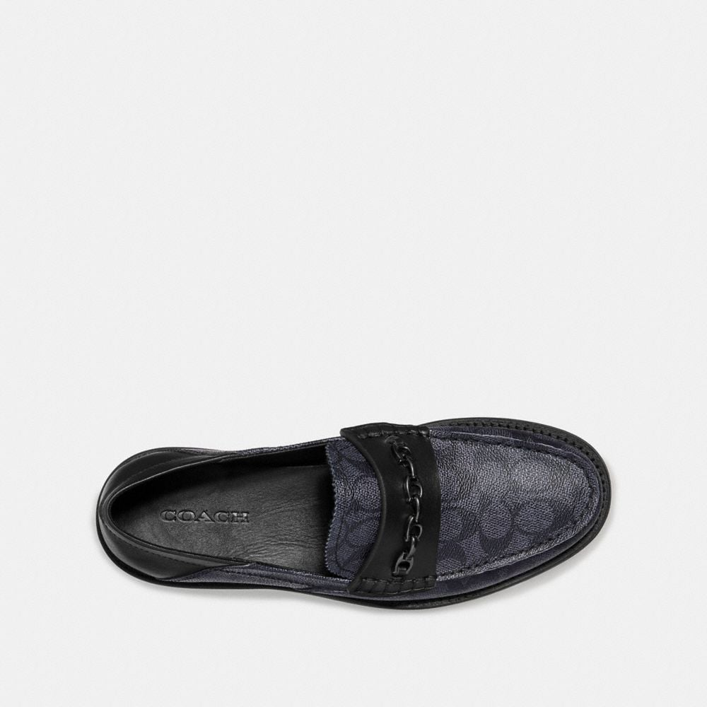 Coach Chain Loafer in Signature Canvas Alternate View 2