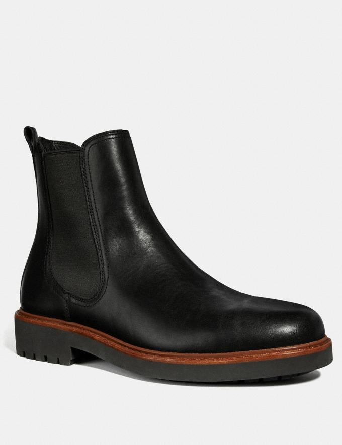 Coach Chelsea Boot Black New Featured Michael B. Jordan