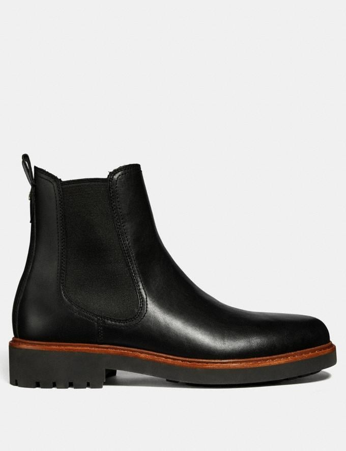Coach Chelsea Boot Black New Featured Michael B. Jordan Alternate View 1
