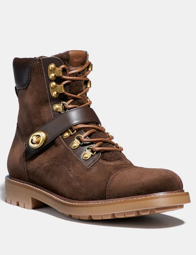 Coach Hiker Boot Saddle/Tobacco Men Shoes Boots