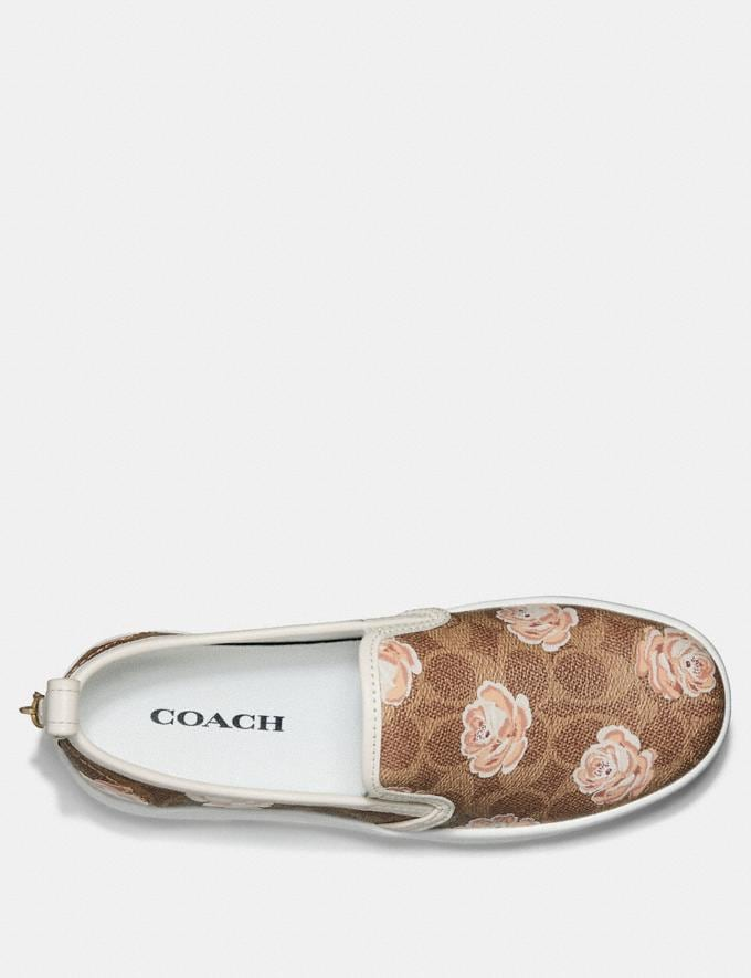 Coach C115 With Signature Floral Print Tan  Alternate View 1