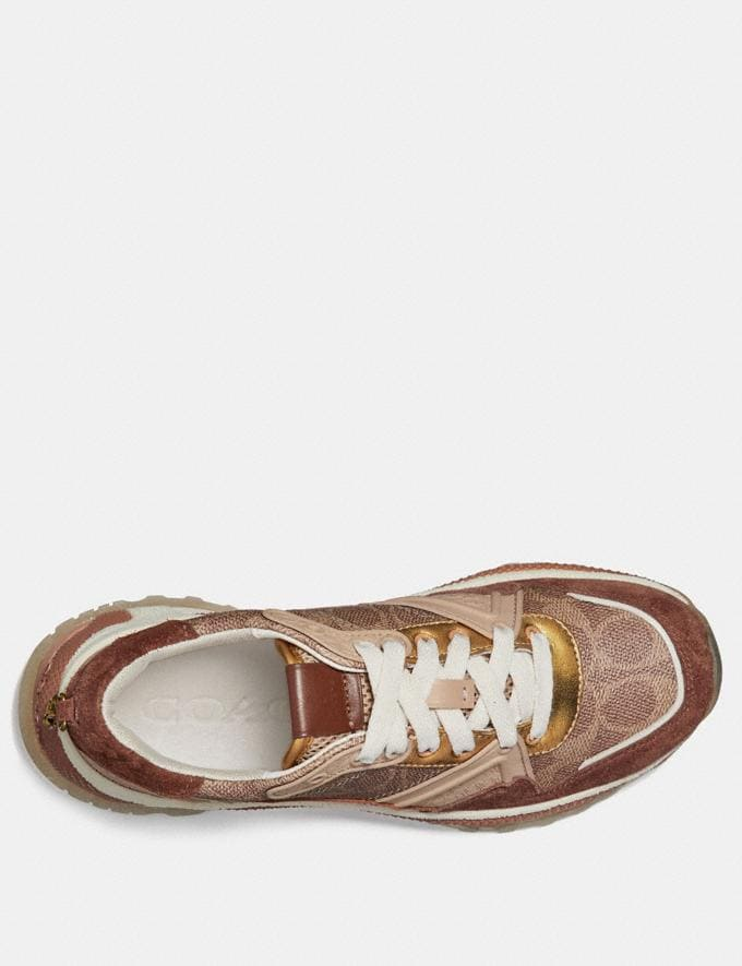 Coach C143 Runner in Signature Canvas Tan/Saddle CYBER MONDAY SALE Women's Sale 40 Percent Off Alternate View 1