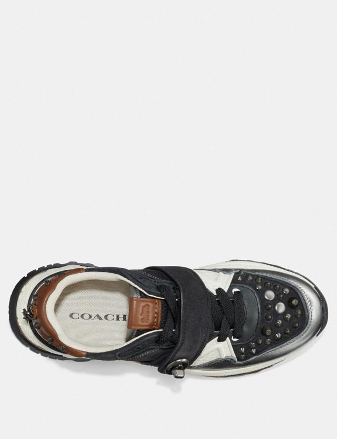 Coach C143 Runner With Studs Black/Gunmetal SALE For Her Shoes Alternate View 2