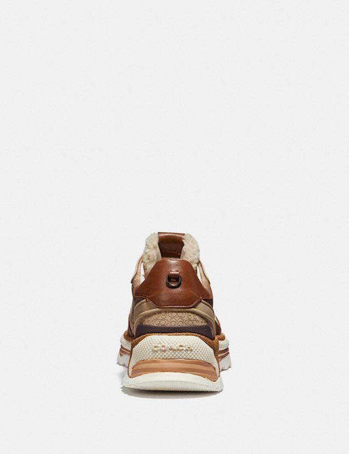Coach C143 Signature Runner Khaki/Saddle  Alternate View 3