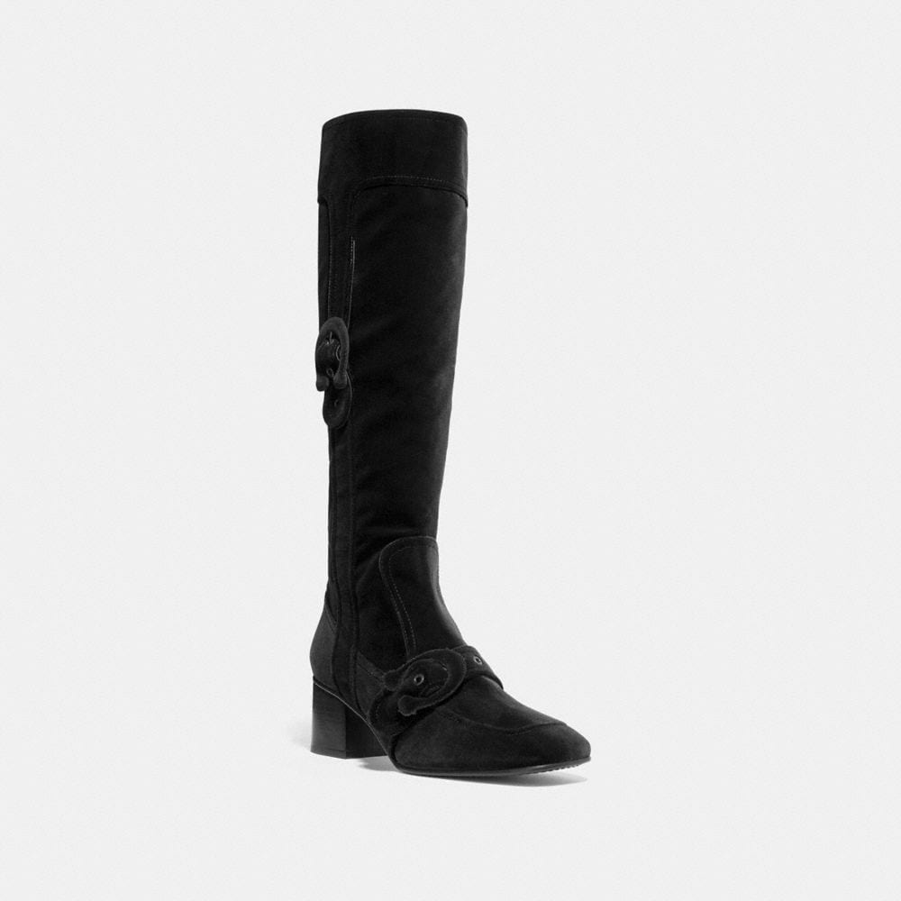 Coach Knee High Signature Buckle Boot