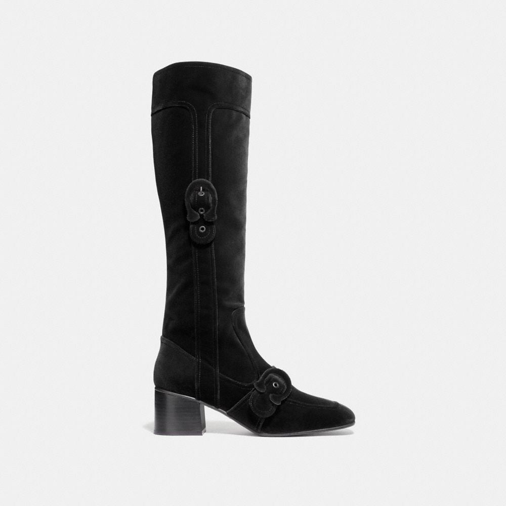 Coach Knee High Signature Buckle Boot Alternate View 1