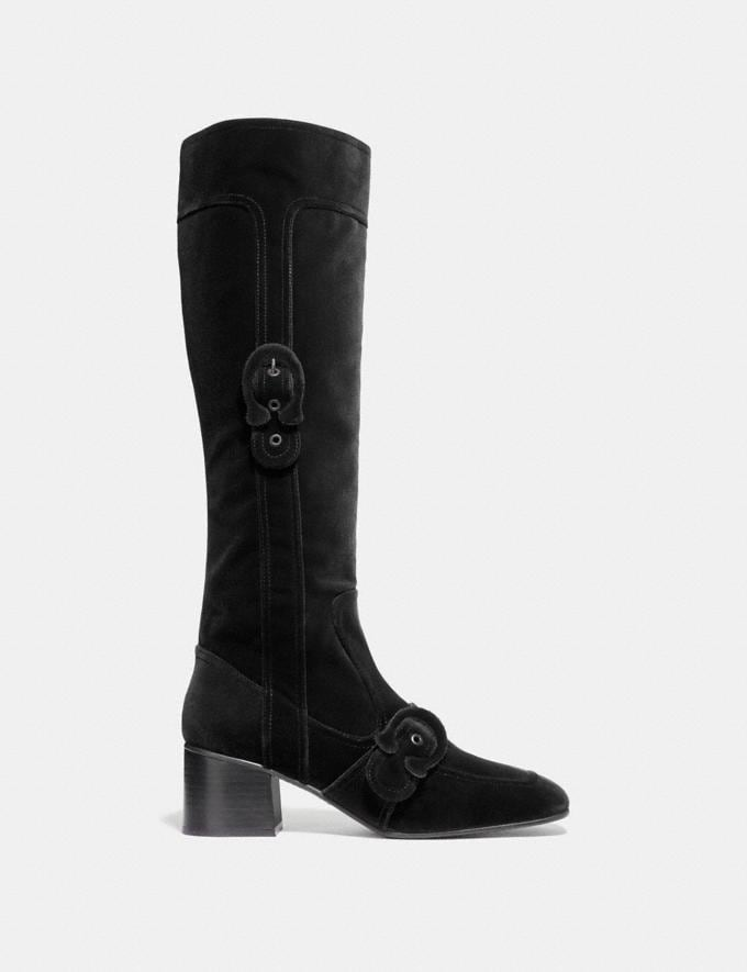 Coach Knee High Signature Buckle Boot Wine Friends & Family Sale Women's Shoes Alternate View 1