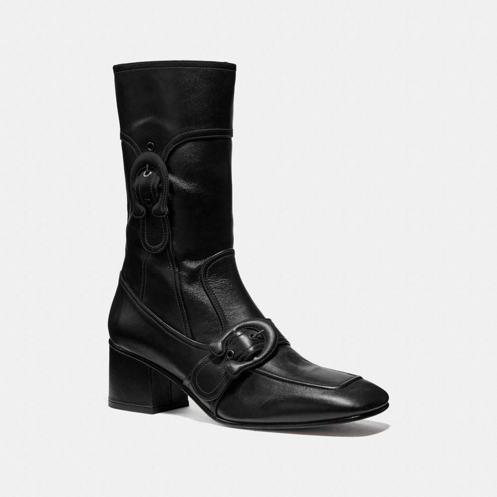 Coach Signature Buckle Bootie