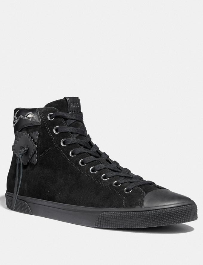 Coach C220 High Top Sneaker Black