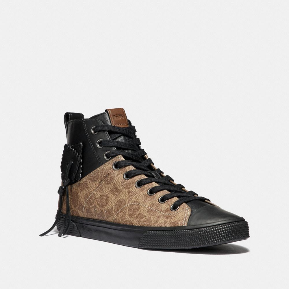 Coach C220 Signature High Top Sneaker