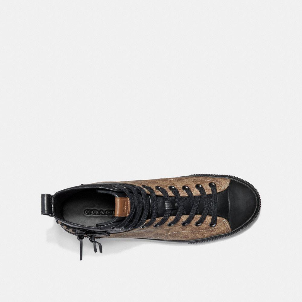 Coach C220 Signature High Top Sneaker Alternate View 2