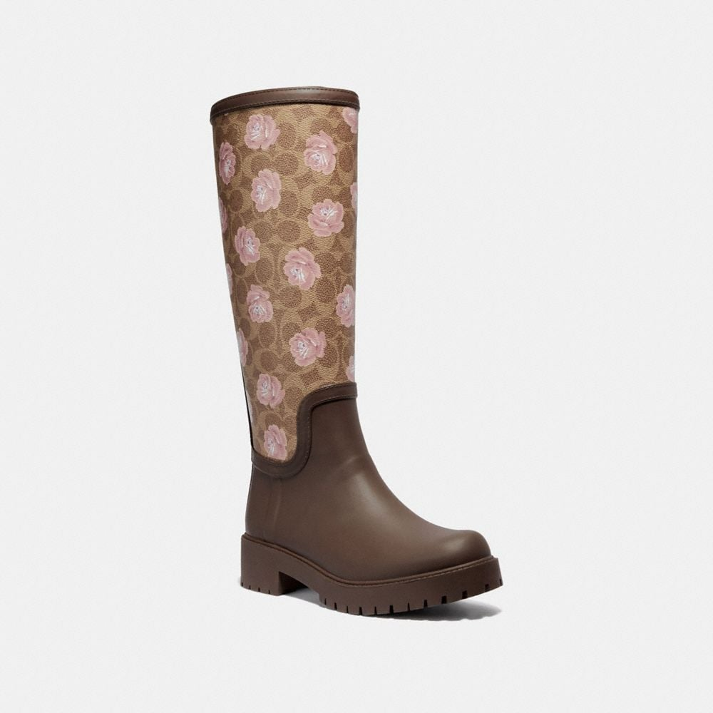 Coach RAINBOOT WITH SIGNATURE FLORAL PRINT