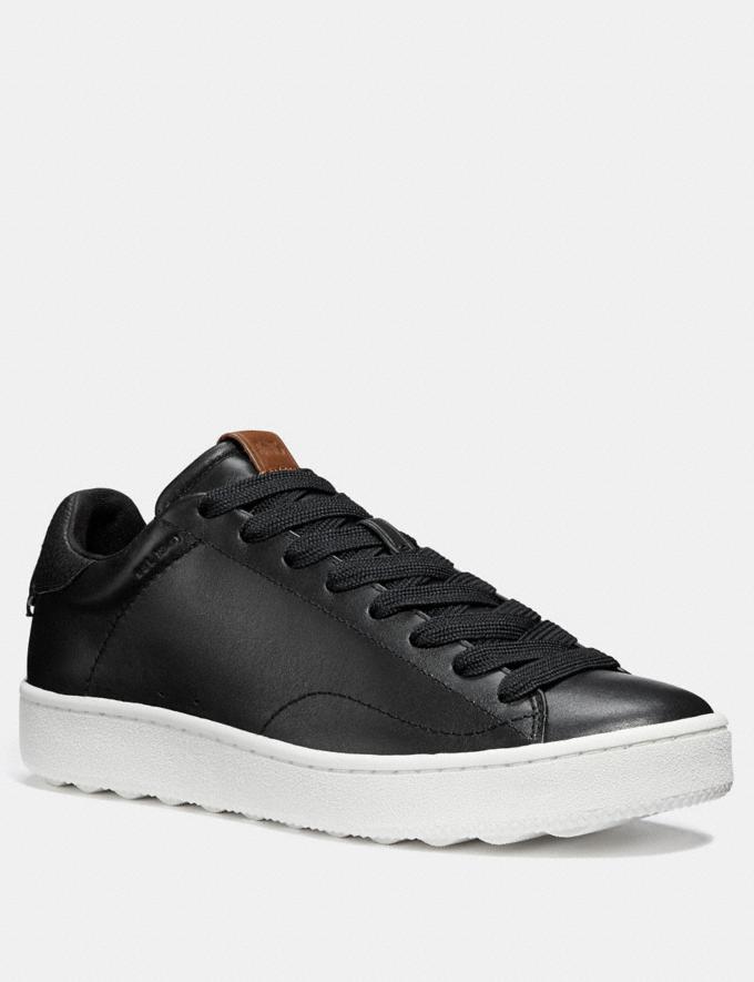 Coach C101 Lowtop-Sneaker Schwarz/Schwarz Sale für Mitarbeiter