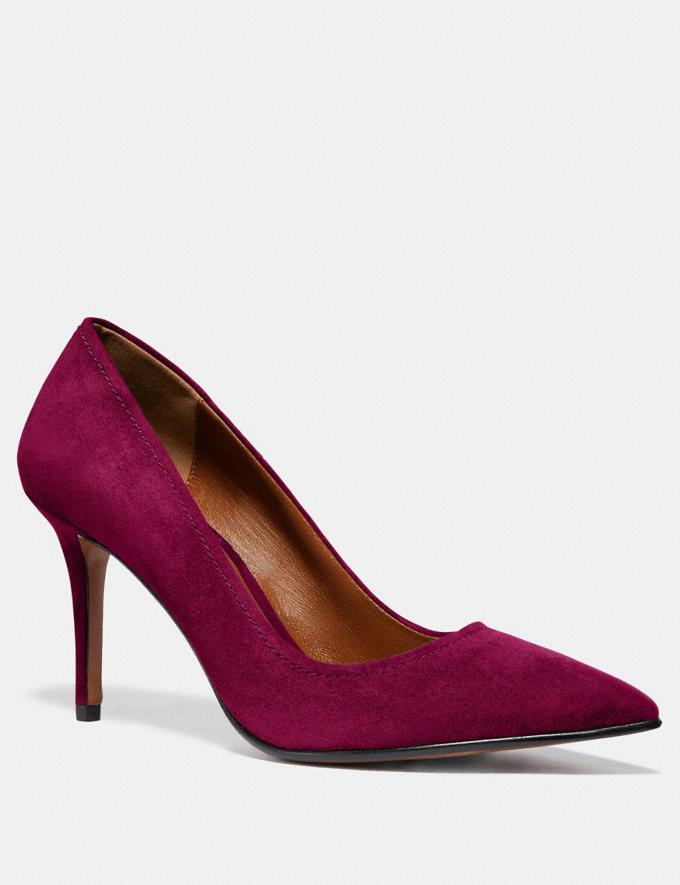 Coach Waverly Pump Dark Berry SALE Women's Sale Shoes
