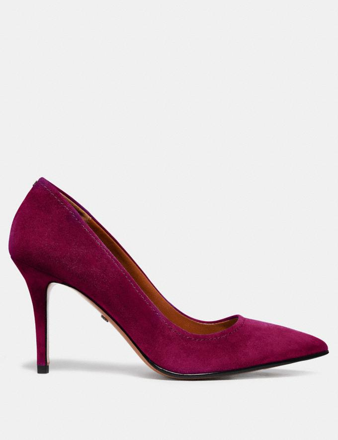 Coach Waverly Pump Dark Berry SALE Women's Sale Shoes Alternate View 1