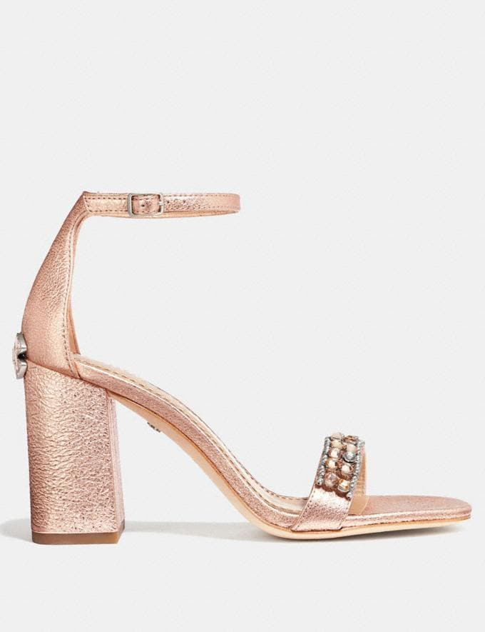 Coach Maya Sandal With Studs Rose Gold  Alternate View 1