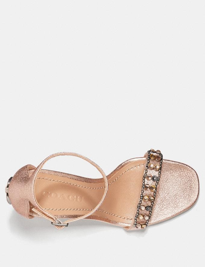 Coach Maya Sandal With Studs Rose Gold  Alternate View 2