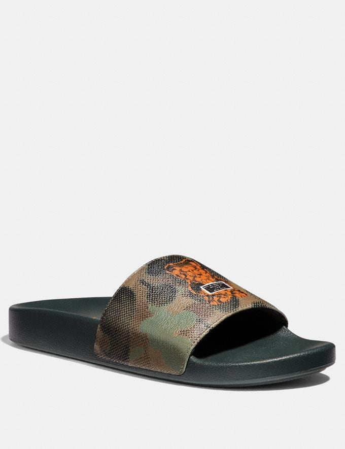 Coach Vandal Gummy Coach Edition Slide Military Wild Beast SALE Men's Sale Shoes