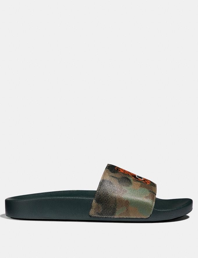 Coach Vandal Gummy Coach Edition Slide Military Wild Beast SALE Men's Sale Shoes Alternate View 1