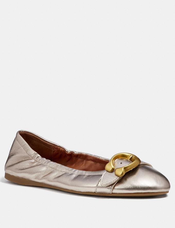 Coach Stanton Ballet Champagne Friends & Family Sale Women's Shoes