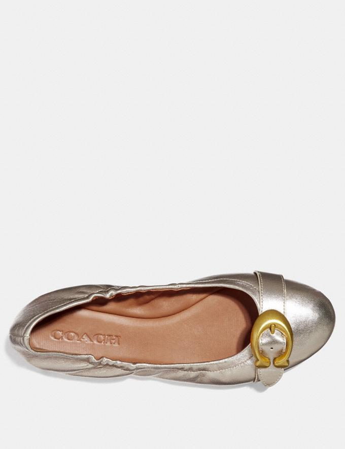 Coach Stanton Ballet Champagne Friends & Family Sale Women's Shoes Alternate View 2